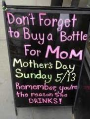 Sign to Buy Mom WIne for Mothers Day