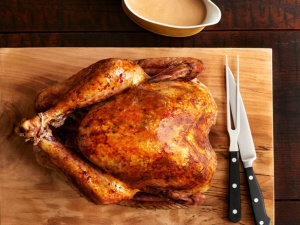 Big, beautiful brined turkey from Food Network.