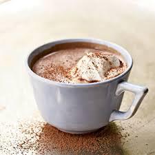 Piping hot hot chocolate
