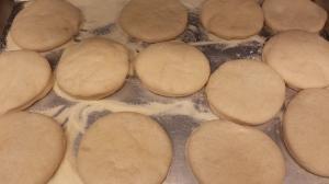 raw English muffins